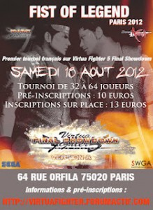 [Tournoi VF5FS] FIST OF LEGEND – 18 aout 2012, Paris