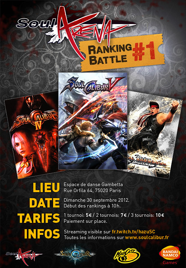 Soul Arena Ranking Battle #1 (30/09/2012)