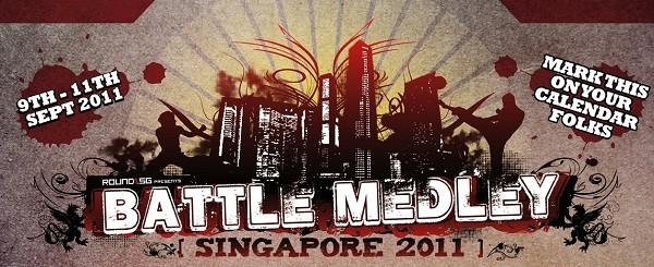 Battle Medley Singapore feat. Momochi, Choco Blanka and Xian (Résultats et Vidéos – 9 et 10 Septembre 2011)