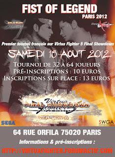 [Tournoi VF5FS] FIST OF LEGEND – 18 aout 2012, Paris